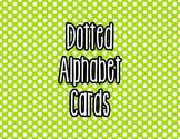 Polka Dot Alphabet Letter Cards (Green) - Word Wall, Class