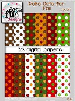 Polka Dotted Backgrounds: Fall Theme