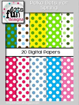 Polka Dotted Backgrounds: Spring Theme