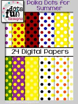 Polka Dotted Backgrounds: Summer Theme