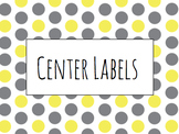 Polka Dotted Center Labels