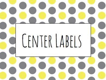 Polka Dotted Center Labels