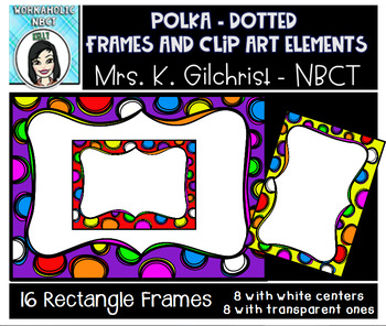 Colorful Borders, Frames, and Dividers Clip Art Set