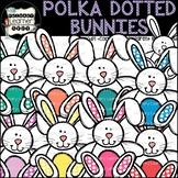 Polka Dotted Easter Bunny/Rabbit {Spring Season Clipart}