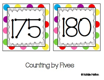 Polka Dotted Number Line--EXTRAS to original file
