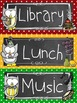 Polka Dotted Owl Classroom Schedule Cards