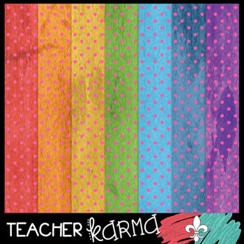 Polka Dotted Rainbow Digital Papers
