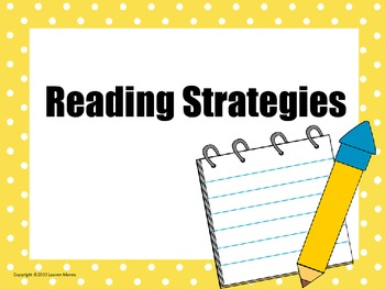 Polka Dotted Reading Strategy Posters