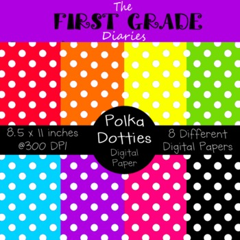 Polka Dotties {Digital Paper}