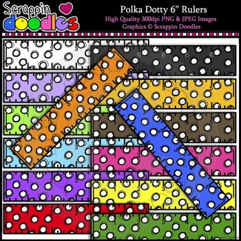 "Polka Dotty 6"" Rulers"
