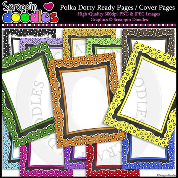 """Polka Dotty 8-1/2""""x11"""" Ready Pages"""