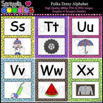 Polka Dotty Alphabet Letter Posters