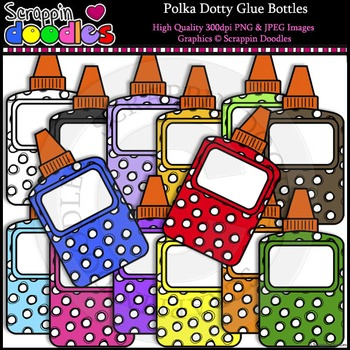 Polka Dotty Glue Bottles