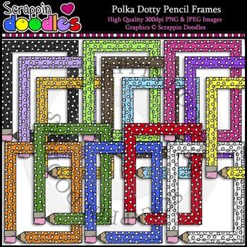 Polka Dotty Pencil Frames - FREEbie :)
