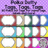 Polka Dotty Tags-60 Polka Dot Tags