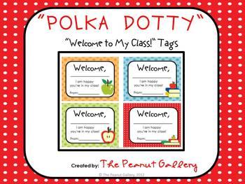 """Polka Dotty"" Welcome Tags"