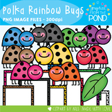 Polka Rainbow Ladybugs - Clipart for Teaching