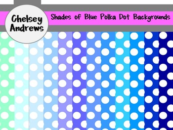Polka Dot Shades of Blue {Personal and Commercial Use}