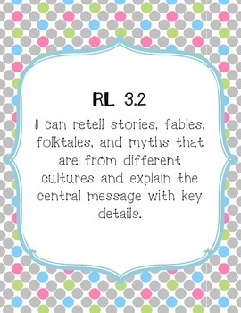 Polka Dot Third Grade Common Core Reading Standards