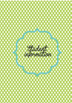 Polka dot 2016-2017 teacher binder