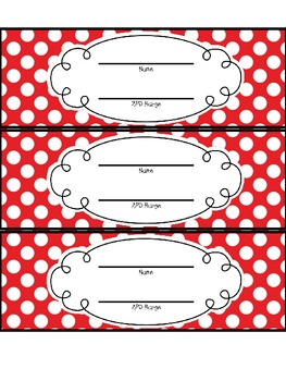 Polka dot AR bookmarks