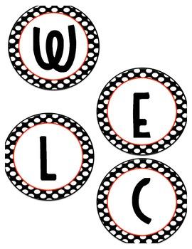 Polka dot Circle Welcome aboard banner