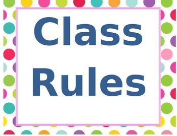 Polka dot Class rules/center labels