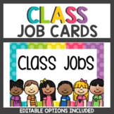 Polka dot Classroom Decor Job Cards