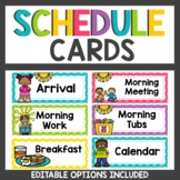 Polka dot Classroom Decor Schedule Cards
