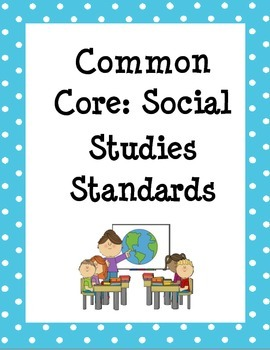 Polka-dot Common Core Standards Binder Covers