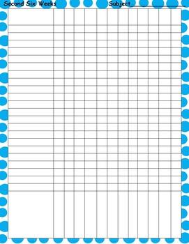 Polka dot Gradebook