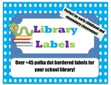 Polka-dot Library Labels