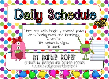 Polka dot Monster Daily Schedule