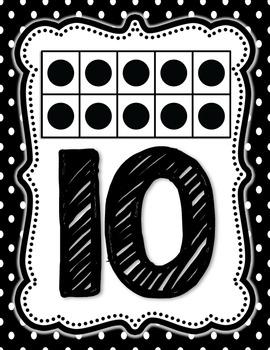 Polka dot Number Cards 0-10