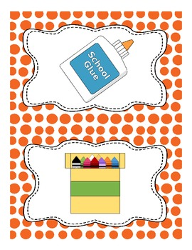 Polka-dot Picture Direction Cards