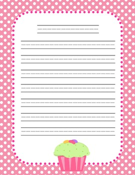 Polka-dot, Striped, and Flower Thematic Paper