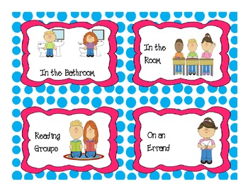 Polka dot Where is our class Printable