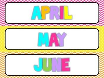 Polka dot and Chevron calendar bundle {BRIGHTS}