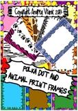 Polka dot and animal print frames