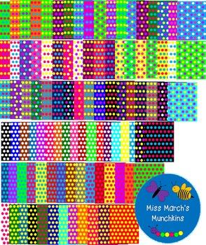 Polka dot backgrounds bundle- 82 backgrounds!