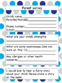 Polka dot beginning of the year parent survey
