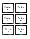 POLKA DOT LIBRARY BOOK LABELS-EDITABLE, GUIDED READING
