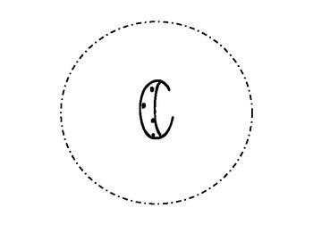 Polka dot circle Word Wall Letters
