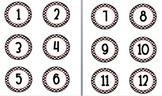 Polka dot circle number  2 1/2 in labels centers number line