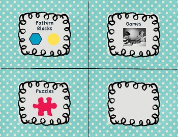Polka dot classroom supply labels