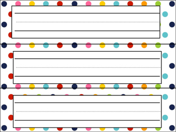 Polka dot decorations