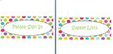 Polka dot labels for open house (editable)