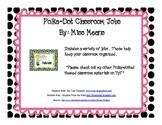 Polka dot themed Classroom Jobs