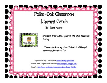 Polka dot themed Classroom Library