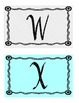 Polka dot turquoise and black word wall letters
